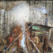 RAGGED BARRACUDAS/PUSHY - SPLIT LP