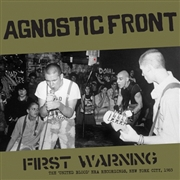 AGNOSTIC FRONT - FIRST WARNING (BLACK)